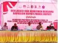Bupati Hadiri Deklarasi Bapaslon Bupati dan Wakil Bupati Dompu Tentang Kepatuhan Protokol Covid-19
