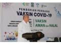 Pemda Dompu Gelar Pemberian Perdana Vaksin Covid-19.