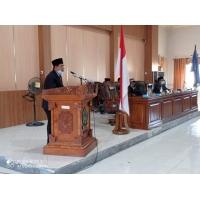 Wabup Dompu Hadiri Paripurna DPRD Penyampaian Laporan Raperda Pertanggungjawaban APBD Tahun 2020