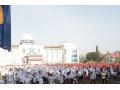 Jelang HUT Ke-74 RI, Pemkab Dompu Gelar Acara senam Bersama Gebyar Merah Putih.